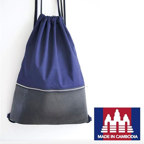 Picture of Tire Draw String Bag [Navy]