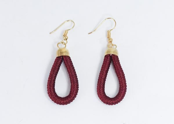 Picture of Thread Wrap Earring (Maroon)